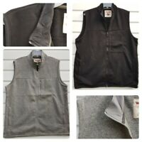 Wrangler New Men`s Fleece Gilet Sizes S-3XL Grey & Black Vest Jacket Top