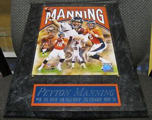 PEYTON MANNING DENVER BRONCOS FRAMED 8X10 PHOTO-MAN CAVE DECOR-12X15 WALL PLAQUE