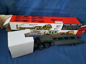 SOLIDO 211 BERLIET T12 MILITARY TANK ETC TRANSPORTER 1/50TH EXCELLENT BOXED