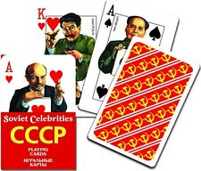 CCCP Soviet Russia Leaders Lenin Stalin Caricature Deck of Playing Cards Piatnik