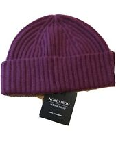 NORDSTROM MEN'S SHOP Cashmere Knit Cap Red Ruby Beanie 973