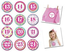 Monthly Milestone Stickers Baby Girl Baby Shower Gift Idea 13-24 months