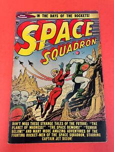 SPACE SQUADRON # 3  (1951) ATLAS -  GOLDENAGE COMIC BOOK - TUSKA ART