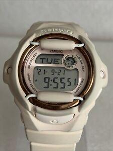 Casio Baby-G BG-169G-4BER Ladies Pale Pink Resin Strap Watch.