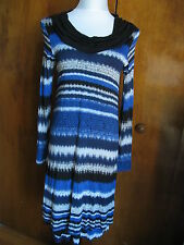 Kensie women's empire blue combo lined dress size Small NWT