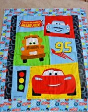 "Disney Cars Lightning Mc Queen Patch Quilt Panel Brushed Twill 1 Yd L x 41""W"