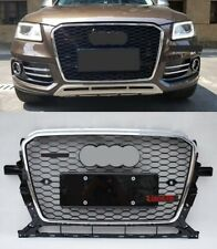 For Audi Q5 2013-2017 RSQ5 Style Front Honeycomb Upper Grille Mesh Grill Chrome