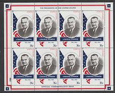 GB lugareños-Staffa 3408 - 1982 #36 presidentes de Estados Unidos, Lyndon B Johnson Hoja de 8 estampillada sin montar o nunca montada