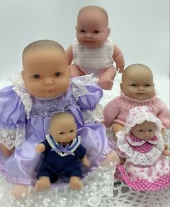 Berenguer Baby Doll Lot X 5, As New, Dressed, Various Sizes