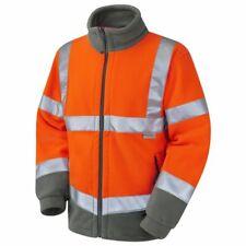 Hi Vis Extra Warm Fleece Jacket Yellow & Orange ISO 20471 Class 3 Sizes S-6XL
