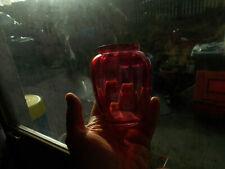 Victorian Cranbury glass vase slight damage