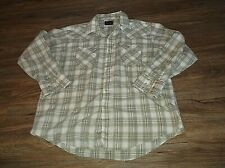 Men's PLAINS Western Wear Long Sleeve Pearl Snap Shirt Sz XL