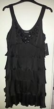 Warehouse Brand New Black Dress - Embellished Detail - Size 12 - BNWT