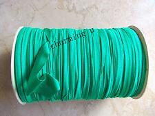 3mt nastrino fettuccia lycra elastico x bracciale,collana, color verde malachite
