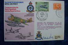 WW2 FIRST DAY COVER SIGNED 320 DUTCH SQD RAF COMMODORE HENRICUS J E VAN DER KOP