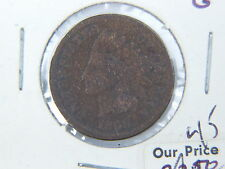 1868 US INDIAN HEAD PENNY 1c COIN G $.01