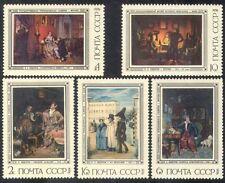 Russia 1976 fedetov/Artisti/ARTE/PITTURA/Cane/uniforme/Heritage Set 5 V (n39714)