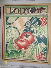 FORTUNE MAGAZINE AUGUST 1937 INTERNATIONAL TRACTOR SEMI TRUCK MUST SEE