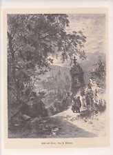 Ansicht von Trier schöner großer HOLZSTICH um 1880 Hoher Dom Altstadt