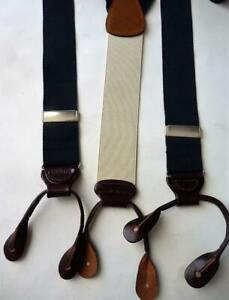 BROOKS BROTHERS NAVY SUSPENDERS BRACES