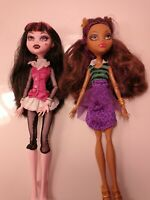 Monster High Doll DRACULAURA ORIGINAL GHOULS COLLECTION + Claudine Wolf LOT