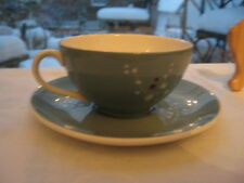 beautiful cup saucer Royal Doulton Spindrift green