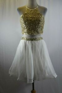 Sequin Heart Junior 2 pc Skirt and Top Suit Size 11 #K283