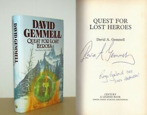 David Gemmell - Quest for Lost Heroes - Signed - 1st/1st (1990 First Edition DJ)
