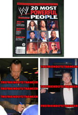 "Rare THE UNDERTAKER & VINCE McMAHON signed Autographed ""WWE"" MAGAZINE Proof COA"