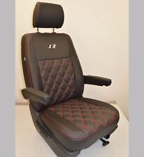 VW Transporter T5 R Line Tailored Seat Covers Black & Carbon Genuine Fitting