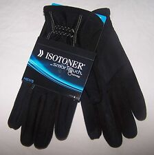 Men's 5313 ISOTONER Medium Black SMART TOUCH Gloves Fleece Lined NEW $55