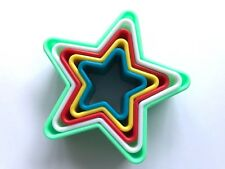 5 pcs Star Cookie Cutter Baking Tools Cupcake Cake Dough Pastry Kitchen Tools