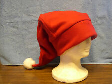 Fleece Nite Cap w/ pom pom  Pick your own solid color NEW
