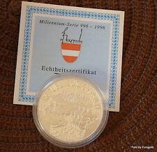 """Österreich, 100 Schilling 1993 """"Millennium-Serie Leopold I."""" PP/Proof"""