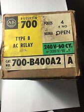 Allen-Bradley 700-BR400A2 AC Relay 240v 60cy or 220v-50cy, NEMA  4 N.O. Type B