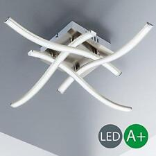 LED Spotlight Ceiling Strip Curvy Lamp Light Living Room Kitchen Metal Nickel UK