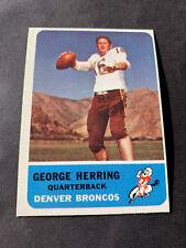 1962 Fleer Football #44 George Herring Ex+ Oc Broncos Southern Miss Afl