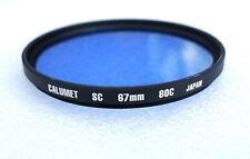 67mm CALUMET (HOYA) 80C Filter - Blue Color Correction - NEW