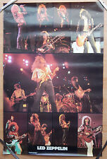 Led Zeppelin 1982 Vintage Original Music Poster 23X35 Robert Plant & Jimmy Page
