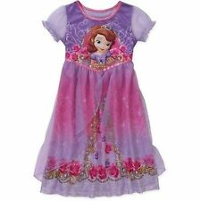 Disney Princess Sofia The First Short Sleeve Nightgown Pajama Girl Size 7 8 c4988ae3d