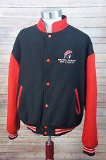 "Vintage 1990s KELOWNA SPARTANS Minors Junior ""A"" Hockey Team Wool Jacket BCHL XL"