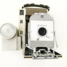 Vintage Polaroid 800 Land Camera with Wink-Light Attachment and 4-S Lens