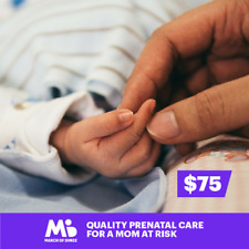 $75 Charitable Donation For: Quality Prenatal Care for a Mom at Risk