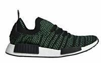 Adidas NMD_R1 STLT Primeknit Boost AQ0936 Green Black Mens Sz 5 Running Shoes