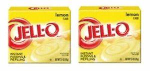 Jell-O Lemon Instant Pudding Dessert Mix 2 Box Pack