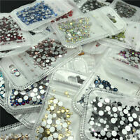 400pcs SS6-SS20(2-5mm) 3D Flatback Glass Crystal Rhinestones Nail Art Decoration