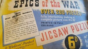 vintage epics of the war jigsaw puzzle .
