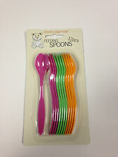 12 BEAUTIFUL BEGINNINGS REUSABLE PLASTIC BABY SPOON KIDS TODDLER CHILD CUTLERY