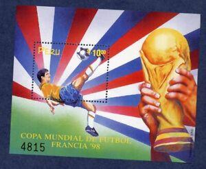 Peru 1178c 1998 World Cup in France Souvenir Sheet MNH