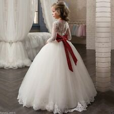 2020 White Flower Girl Dresses Girls Weddings First Communion Pagent Party Gown